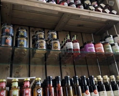 Stocked shop shelves